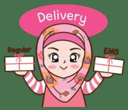 Hijab Girl Online Shop. Eng sticker #11183130