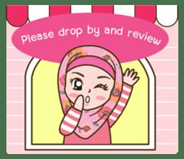 Hijab Girl Online Shop. Eng sticker #11183135