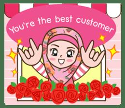 Hijab Girl Online Shop. Eng sticker #11183137