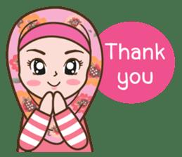 Hijab Girl Online Shop. Eng sticker #11183142