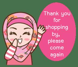 Hijab Girl Online Shop. Eng sticker #11183143
