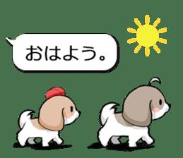 Shih Tzu dog and Friends. sticker #11191864