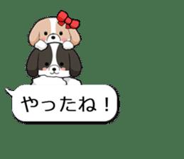 Shih Tzu dog and Friends. sticker #11191871