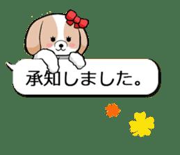 Shih Tzu dog and Friends. sticker #11191874