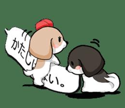 Shih Tzu dog and Friends. sticker #11191875