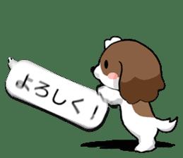 Shih Tzu dog and Friends. sticker #11191876
