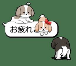 Shih Tzu dog and Friends. sticker #11191879