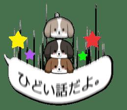 Shih Tzu dog and Friends. sticker #11191890