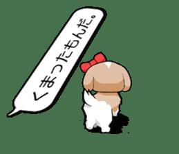 Shih Tzu dog and Friends. sticker #11191892