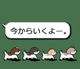 Shih Tzu dog and Friends. sticker #11191896