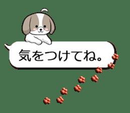 Shih Tzu dog and Friends. sticker #11191897