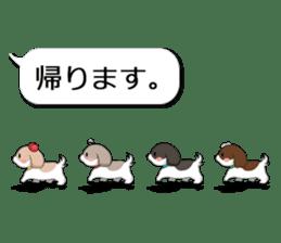 Shih Tzu dog and Friends. sticker #11191899