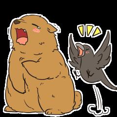 Crow and Bear