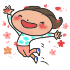 Ripe cute women happy  day 4 kiss&hug To everyone around the world  elPortale   Sell LINE Sticker, Sell LINE Theme