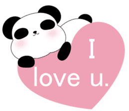 Mochi-Pand in English sticker #11208007