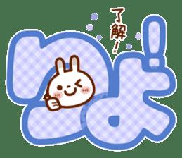 Spots rabbit [big letter] girl word -1 sticker #11208516