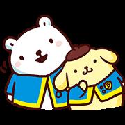 สติ๊กเกอร์ไลน์ Pompompurin × Bac Bac's Diary: Cheer Up!