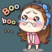 สติ๊กเกอร์ไลน์ Tangmo cute girl big stickers (EN)