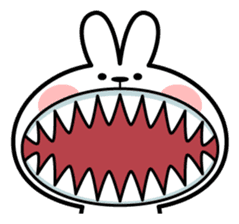 "Spoiled Rabbit ""Face2"" sticker #11233159"