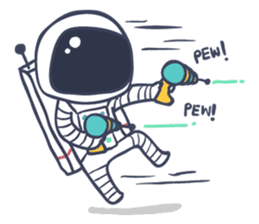 Jack The Astronaut sticker #11233881
