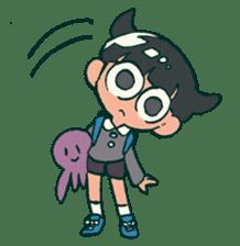The poker face little boy Muhyoujou-Kun sticker #11244232