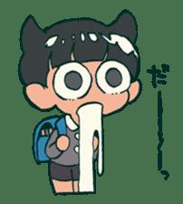 The poker face little boy Muhyoujou-Kun sticker #11244235