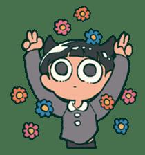 The poker face little boy Muhyoujou-Kun sticker #11244236