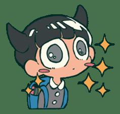 The poker face little boy Muhyoujou-Kun sticker #11244237