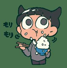 The poker face little boy Muhyoujou-Kun sticker #11244239