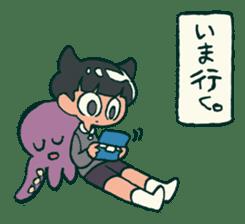 The poker face little boy Muhyoujou-Kun sticker #11244240
