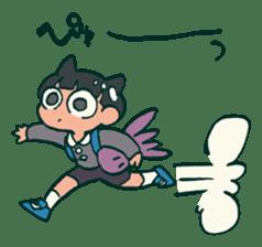 The poker face little boy Muhyoujou-Kun sticker #11244241