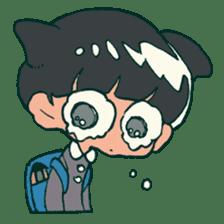 The poker face little boy Muhyoujou-Kun sticker #11244248