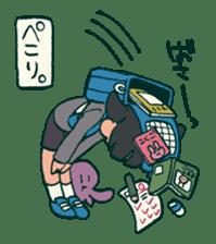 The poker face little boy Muhyoujou-Kun sticker #11244249