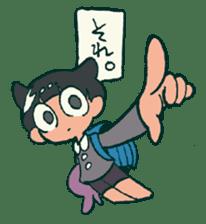 The poker face little boy Muhyoujou-Kun sticker #11244251