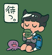 The poker face little boy Muhyoujou-Kun sticker #11244256