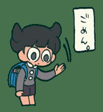 The poker face little boy Muhyoujou-Kun sticker #11244257