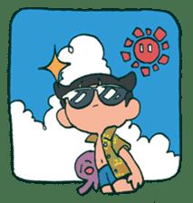 The poker face little boy Muhyoujou-Kun sticker #11244258