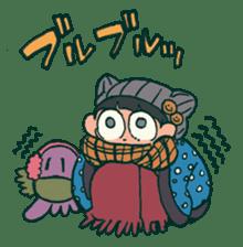 The poker face little boy Muhyoujou-Kun sticker #11244259