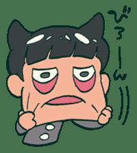 The poker face little boy Muhyoujou-Kun sticker #11244260