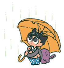 The poker face little boy Muhyoujou-Kun sticker #11244262