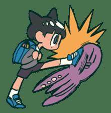 The poker face little boy Muhyoujou-Kun sticker #11244264