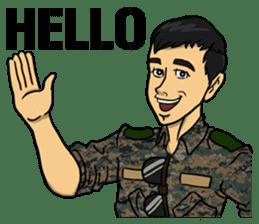 Army Captain sticker #11250113