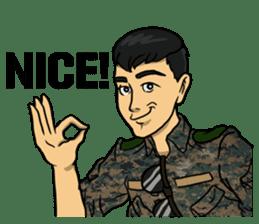 Army Captain sticker #11250115