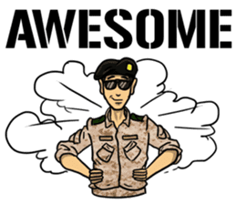 Army Captain sticker #11250141