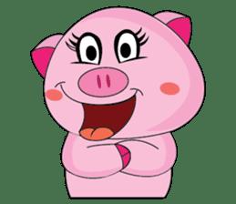 One of us: A Little Cute Piku-Pig sticker #11273067