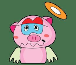 One of us: A Little Cute Piku-Pig sticker #11273075