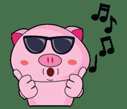 One of us: A Little Cute Piku-Pig sticker #11273078