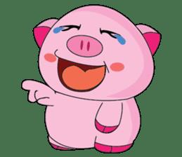 One of us: A Little Cute Piku-Pig sticker #11273083