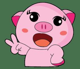 One of us: A Little Cute Piku-Pig sticker #11273089