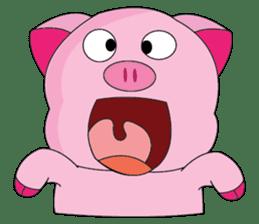 One of us: A Little Cute Piku-Pig sticker #11273100